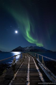 Moonwalk By Ole C. Salomonsen Rekvik, northern Norway.