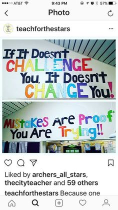 These statements are great motivators for the students when they walk into the classroom each day. They need to have a positive atmosphere in order to learn in their full potential. A positive atmosphere encourages them which boost their self efficacy. Classroom Bulletin Boards, Classroom Posters, Future Classroom, Classroom Themes, School Classroom, Quotes For The Classroom, Maths Classroom Displays, Classroom Window, Library Posters