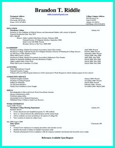 Nice The Perfect College Resume Template To Get A Job Check More