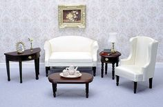 dollhouse furniture | ... Living Room Furniture from FINGERTIP FANTASIES Dollhouse Miniatures