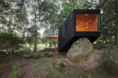 a small house in the woods