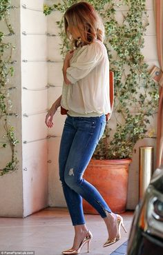 Already back to her pre-pregnancy best: The star, who welcomed her first child, daughter Hazel, with husband John Krasinski on February 16, ...