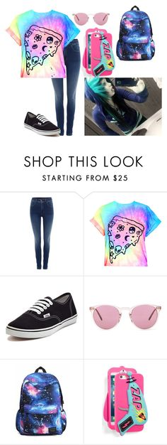 """"""";poiuy"""" by annie-hall-barton ❤ liked on Polyvore featuring Salsa, Vans, Oliver Peoples and Skinnydip"""