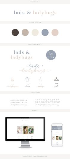 Brand reveal for Lads & Ladybugs | Branding | Brand Board | Logo Design | Graphic Design | Design Inspiration | Logo Ideas | Brand Ideas | Website Design | Color Palette | August and White