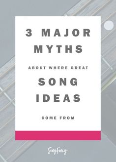 All creatives get duped into believeing one thing: that we are hopelessly dependent on the whim of the muse. Here's what you can do to break the spell:   Songwriting tips at http://SongFancy.com