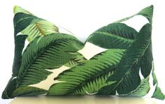 Tropical Leaf Decorative Pillow Large Palm Leaf by WillaSkyeHome