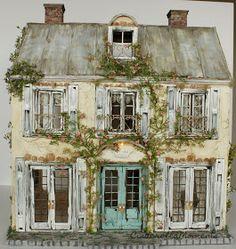 Cinderella Moments: Weekend Chateau Custom Dollhouse Done!