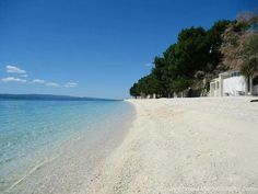 Beach at Baška voda in Croatia
