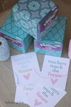 Kleenex Teacher Gift Idea with Printable Tag