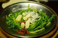 #小魚莧菜,家常味。@喫飯食堂 Boiled Amaranth with Silver #Fish#vegetable #Food #Taiwan