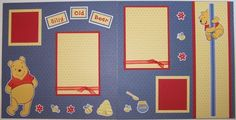 Premade 12x12 Disney Scrapbook Pages/Layout - Winnie the Pooh