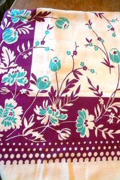 Vintage Linen Tablecloth Aqua and by VintageReinvented on Etsy, $24.00