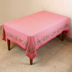 Spring Decor Table Floral Cotton Indian Tablecloth Rectangular 152 X 228: Amazon.co.uk: Kitchen & Home