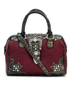 Look at this #zulilyfind! Red Lexi Convertible Satchel #zulilyfinds  $27.99