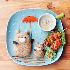 totoro inspired rice