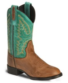 Old West Youth Barnwood Ultra Flex Cowboy Boot