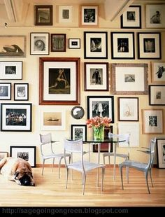 Renée Finberg ' TELLS ALL ' in her blog of her Adventures in Design: Arranging Pictures - Do You Have A Big Boring Wall??