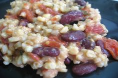 Slow Cooker Red Beans and Barley (Low Fat). Photo by Enjolinfam