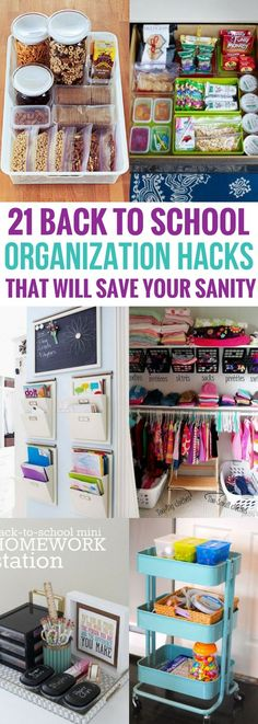 Finally, I've found fantastic diy back to school projects that help to get everything organized. Actually REAL solutions that do work! Definitely the best organization hacks I've seen yet. Home School Organization, Organizing Your Home, Homework Organization, Organization Ideas, Organize For School, Back To School Tips, School Projects, Diy Projects, Diy School Supplies