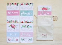 Twin Milestone & Moment Floral Collection