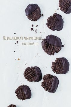 No bake gluten free vegan chocolate almond cookies. You can use any nut butter of your choice. This are super healthy and good for you. Great to make together with the kids!