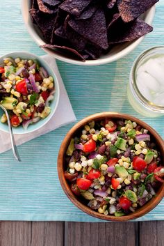 Black Bean, Corn and Avocado Salad... pretty sure I've pinned something like this at least once... but just in case...