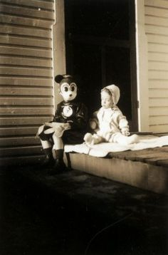 I'm not sure who is the creepy one in this old photo!