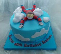Skydiver Cake