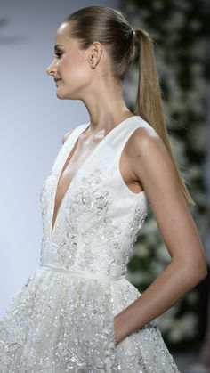 (pockets!) Dennis Basso For Kleinfeld Fall 2015 | http://aol.it/1vnVvQb via @stylelist