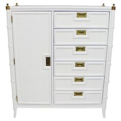 Check out this item at One Kings Lane! Faux-Bamboo Armoire by Stanley