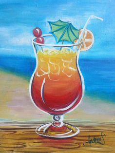 Paint Nite: Discover a new night out and paint and sip wine with friends Wine Painting, Summer Painting, Acrylic Painting Canvas, Painting & Drawing, Canvas Art, Canvas Ideas, Kunst Party, Paint And Drink, Wine And Canvas