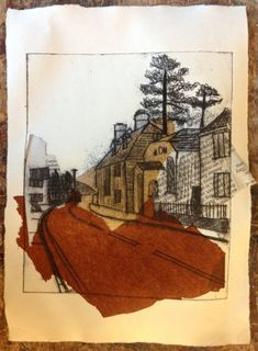 Chine collé by Hannah Catchlove Collagraph, Collage, City Art, Print Artist, Art Projects, Project Ideas, Printmaking, Illustration Art, Illustrations