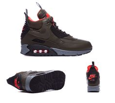 Nike Air Max 90 Sneakerboot Winter Trainers Dark Loden S92261