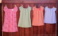 30 Minute Peasant Pocket Dresses with little shabby flowers from Pick Your Plum!