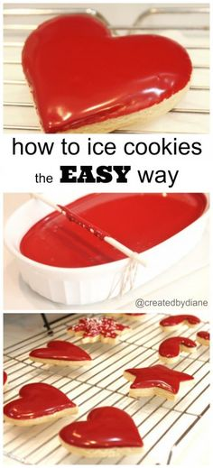 How to ice cookies without a piping bag-Icing the easy way with Glaze Icing Recipe from @createdbydiane