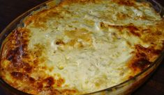 Σουφλέ ζυμαρικών με ταλιατέλες και κρέμα γάλακτος Kai, Lasagna, Pizza, Cheese, Ethnic Recipes, Food, Essen, Meals, Yemek