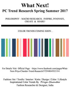 #fashion #art #design #SS17 #color #textiles #fabrics #clothing #style #looks #whatnext #pctrendresearch #knitwear #knitting #colortrends #palette #interior #decor #creative #innovation #inspiration #lifestyle #accessories #style #trendalert #trendsetter