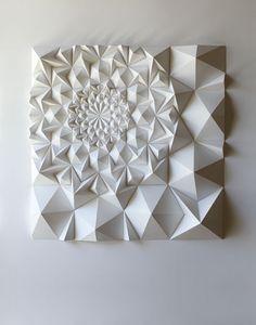 Ann Arbor, MI artist Matt Shlian, beautiful use of paper for texture