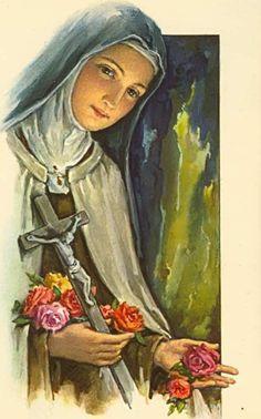 Catholic Quotes, Catholic Art, Catholic Saints, Religious Art, Sainte Therese De Lisieux, Ste Therese, Catholic Tattoos, Christian Mysticism, Vintage Holy Cards