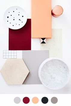 This moodboard and colour palette is a beautiful selection and perfect for my project. Textures Patterns, Color Patterns, Casa Retro, Material Board, Blog Deco, Colour Board, Color Stories, My New Room, Colour Schemes