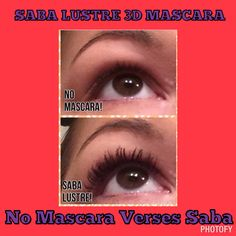Saba LUSTRE 3D Mascara Results.. Ya gotta try these! No flakes.. Just gorgeous lashes!! $26 tax and shipping included!! Msg me now!!! 606-792-7752 or www.sabaforlife.com/JohnsonTamara