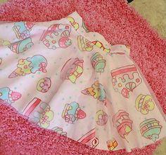 Japanese Harajuku Cake and Strawberry Pink Gauze Skirt