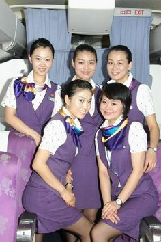 【China】 Xiamen Airlines cabin crew (old uniform) / 厦門航空 客室乗務員 旧制服 【中国】 Xiamen, People, People Illustration, Folk
