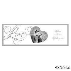 Love Wedding Small Custom Photo Banner