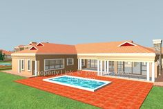 Find your new development project for sale in Hogerty Hill, Harare North from trusted estate agents & private sellers. Get expert advice on development project whatever your budget. 4 Bedroom House Plans, My House Plans, Beautiful House Plans, Beautiful Homes, Single Storey House Plans, House Plans South Africa, Flat Roof House, Thatched Roof, Good House