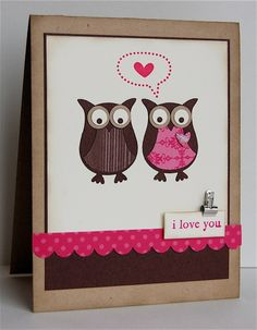 Owl Punch! Stampin up! I need to get me this stamp!