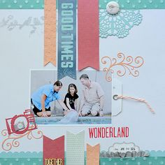 @coredinations and CSI case file 127 created by @SuzannaLee72 #cardstock #banners #scrapbooklayout