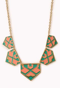 Sweet Lacquered Geo Necklace | FOREVER21 - 1000073239