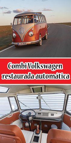 Combi Volkswagen restaurada automática #Combi #Volkswagen #Camioneta Volkswagen, Mistress, Pickup Trucks, Motors, Autos