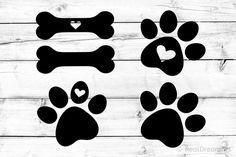 Free Printable Clip Art, Dog Vector, Silhouette Studio, Silhouette Cameo, Free Svg Cut Files, Free Graphics, Dog Mom, I Love Dogs, Design Bundles